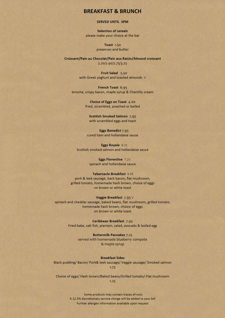 Breakfast & Brunch Menu