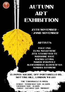 autumn exhibition poster 2015
