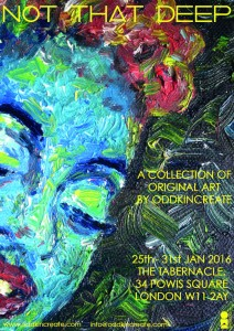 CHARLENE exhibition poster Not_That_Deep_Poster_Tabernacle 2016-01