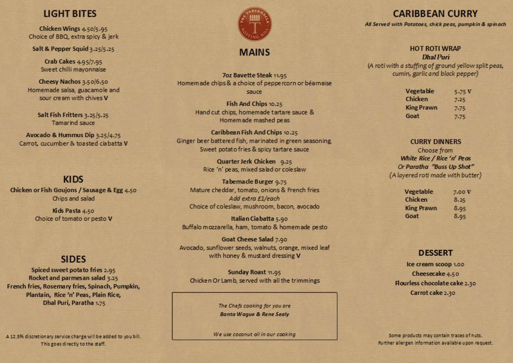 main menu online